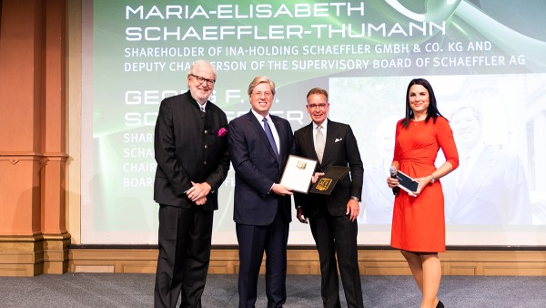 """Brand Manager of the Year"" – Family shareholders of the Schaeffler Group receive honorary award"